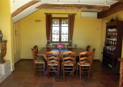 Eetkamer Villa la Douce Noa Provence