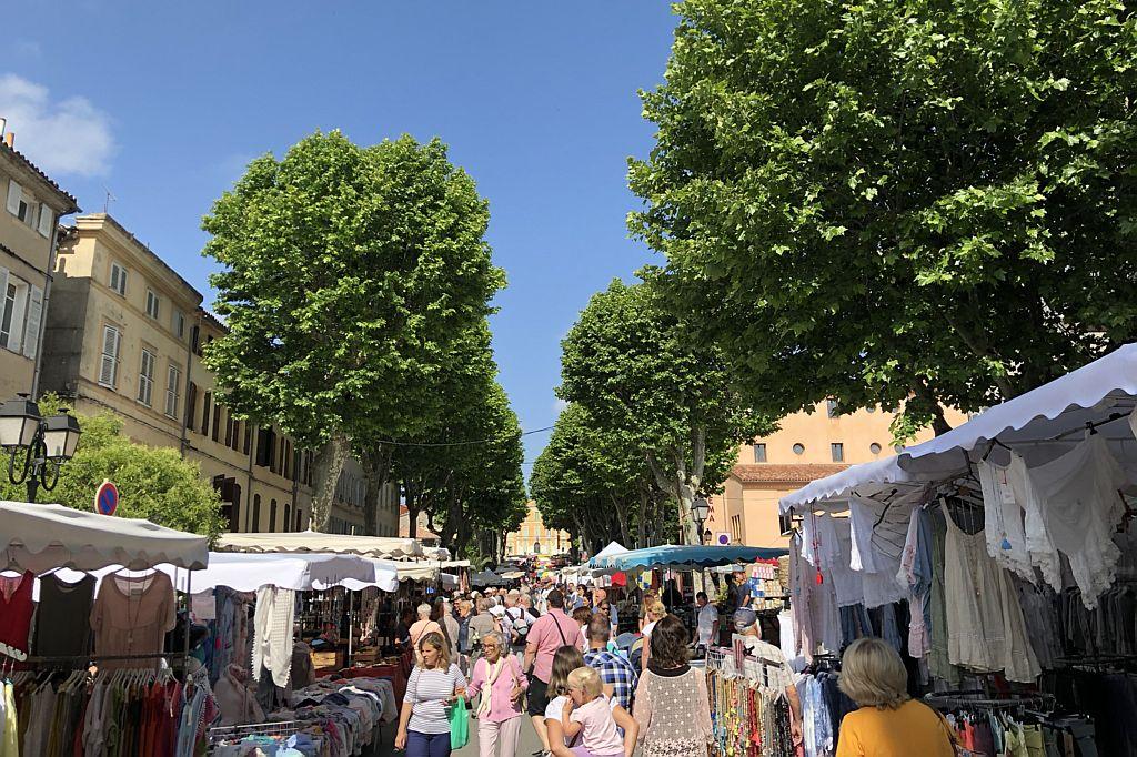 Markt in Lorgues, Provence nabij Villa la Douce