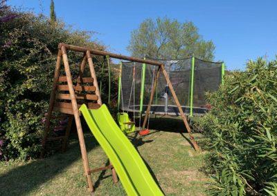 De speeltuin van Villa la Douce Vince