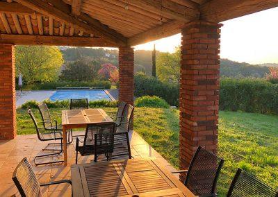 Terras Villa la Douce Noa in Lorgues Provence Zuid Frankrijk