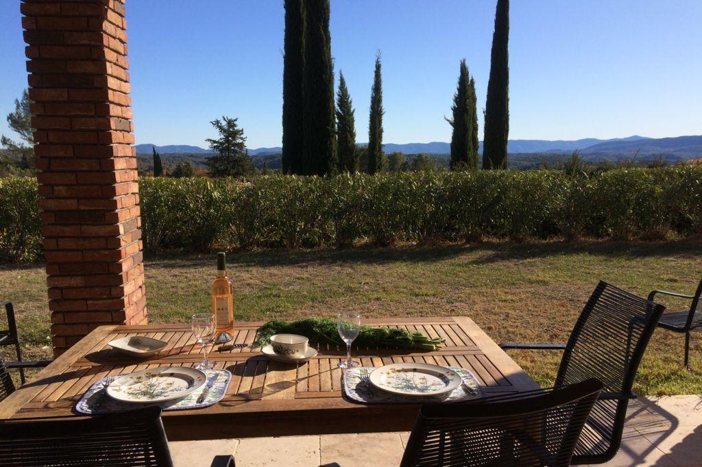 Terras met uitzicht Villa La Douce Noa Provence Lorgues