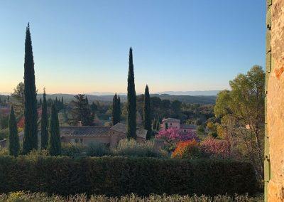 Het uitzicht van Villa la Douce Noa in maart.