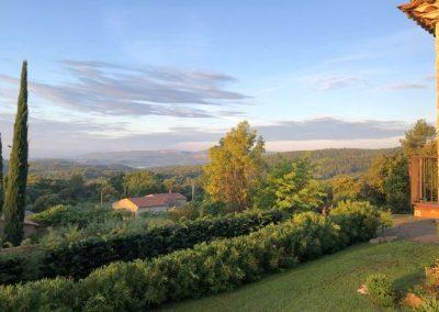 Uitzicht Villa la Douce Noa in Lorgues