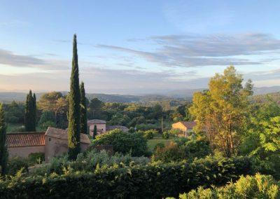 Uitzicht vanuit Villa la Douce Noa in Lorgues