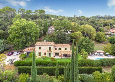 Luchtfoto van Villa La Douce Noa