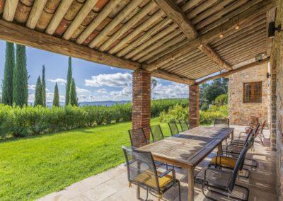 Overdekt terras Villa La Douce Noa