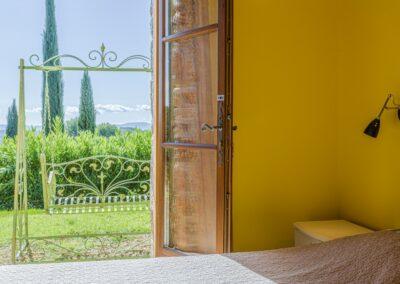 Slaapkamer met uitzicht Villa La Douce Noa