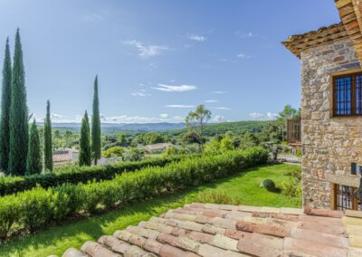 Uitzicht vanuit Villa La Douce Noa