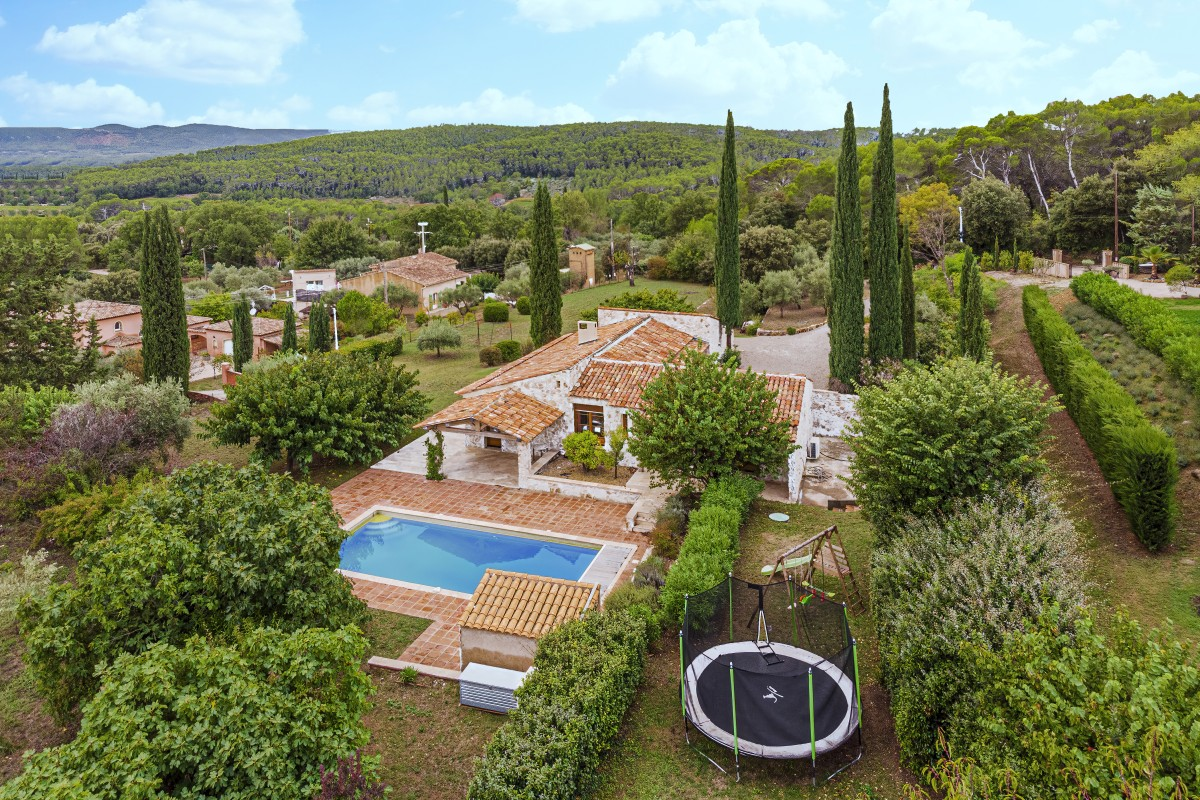 Aerial photo of Villa La Douce Vince
