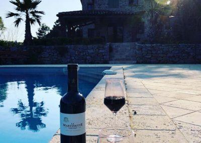 Wijntje aan het Zwembad van Villa la Douce Noa in Lorgues